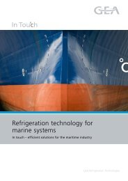 Refrigeration technology for marine systems - GEA Refrigeration ...