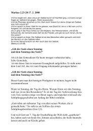 17.02., 10.00 Uhr, Markus, 23-28, Pfr. Gilch-Messerer