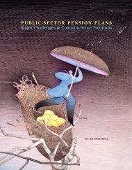 PubliC-SECtor PEnSion PlanS Major Challenges & Common-Sense ...