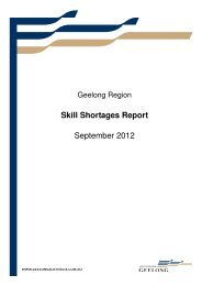 Skill Shortages Report September 2012 - City of Greater Geelong