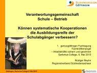 Verantwortungsgemeinschaft Schule - Betrieb ... - geniusgöttingen