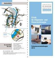 und Viszeralchirurgie - Gemeinschaftsklinikum Koblenz-Mayen