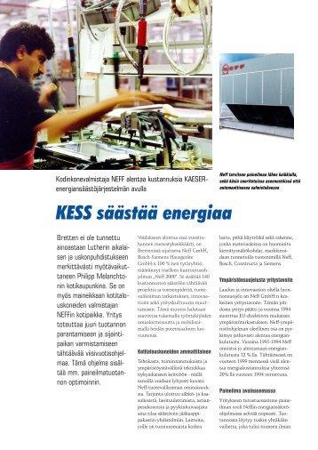 KESS säästää energiaa - KAESER KOMPRESSORIT Oy