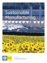 GE Intelligent Platforms Sustainable Manufacturing ... - Gescan Ontario