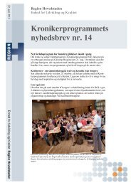 Kronikerprogrammets nyhedsbrev nr. 14 - Glostrup Hospital