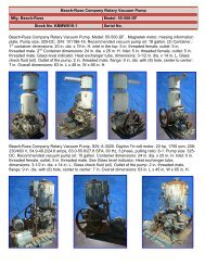 Beach-Russ Company Rotary Vacuum Pump