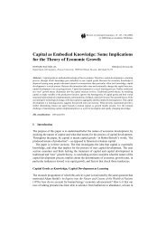 Capital as Embodied Knowledge: Some Implications for the Theory ...