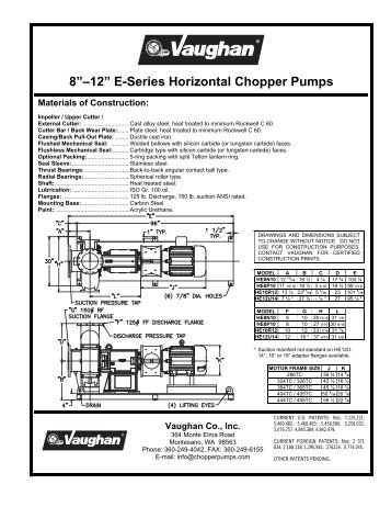3 u201d 6 u201d vertical wet well chopper pumps vaughan chopper pumps rh yumpu com Vaughan Pump Parts Vaughan Pump Parts