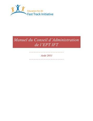 gouvernance du partenariat de l'ept ift - Global Partnership for ...