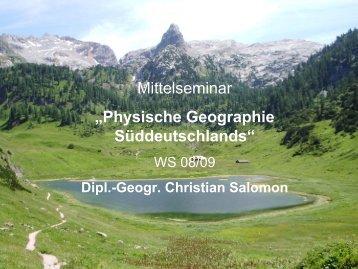 Physische Geographie Süddeutschlands