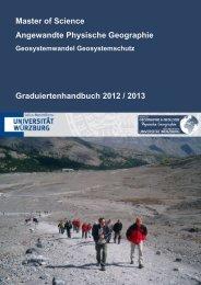 Graduiertenhandbuch - Geographie - Universität Würzburg