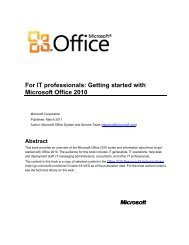 Getting started with Microsoft Office 2010 - GEGeek