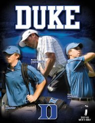 Full page fax print - Duke University Athletics