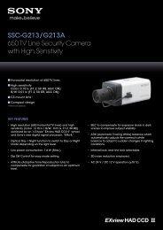 SSC-G213/G213A 650 TV Line Security Camera with High Sensitivity