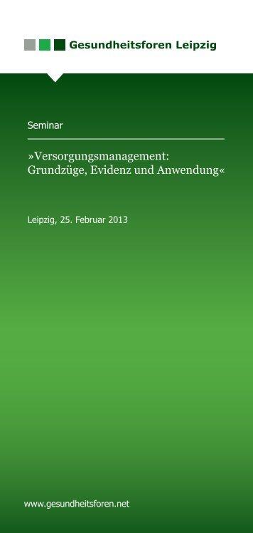 Versorgungsmanagement - Gesundheitsforen Leipzig GmbH