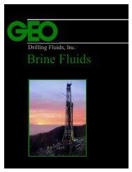 Brine Fluids - GEO Drilling Fluids, Inc.