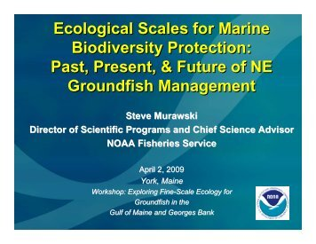 Ecological Scales for Marine Biodiversity Protection - Gulf of Maine ...