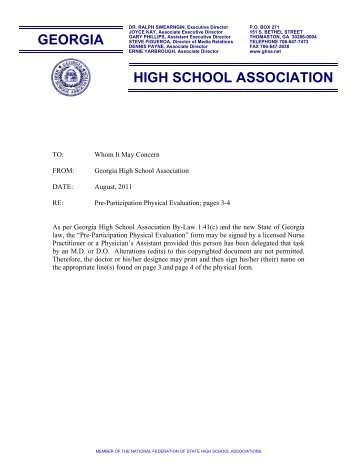 MSHSAA Physical Exam Form