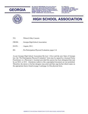 Nsaa Physical Form   Johnson Brock Public School