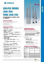 OZ6-FZ6 SERIES (AISI 304) FZN6 (AISI 316)