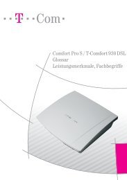 Comfort Pro S / T-Comfort 930 DSL Glossar - Hilfe & Service - Telekom