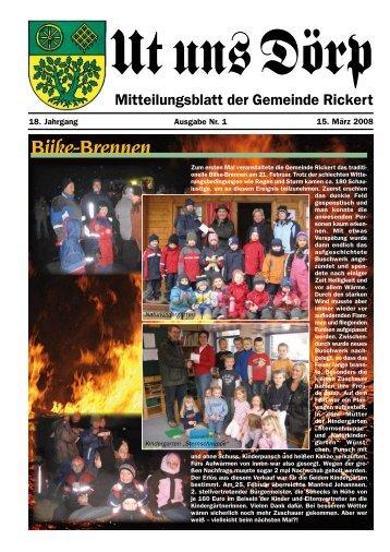 Biike-Brennen - Gemeinde Rickert