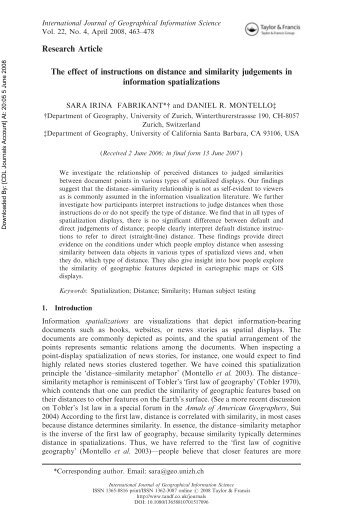 The effect of instructions on distance and similarity judgments in ...
