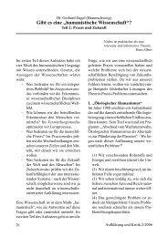 Dr.Gerhard Engel Humanistische Wissenschaft Teil 2