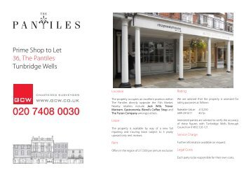 Prime Shop to Let 36, The Pantiles Tunbridge Wells - GCW