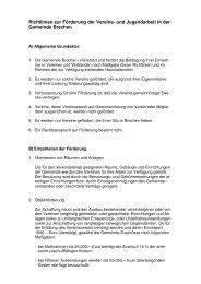 Richtlinien zur Förderung der Vereine - Gemeinde Brechen