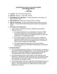 Great Oaks Home Owners Association (GOHA) Board ... - Goha.us