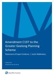 Amendment C197 to the Greater Geelong Planning Scheme