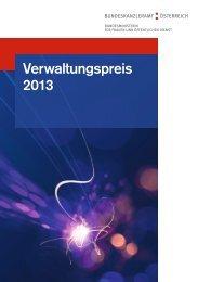 Informationsfolder Verwaltungspreis 2013 - Bundeskanzleramt ...