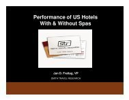 Performance of US Hotels With & Without Spas - Global Spa ...