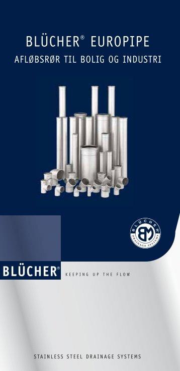 BLÜCHER® Europipe Miniguide rør og fittings