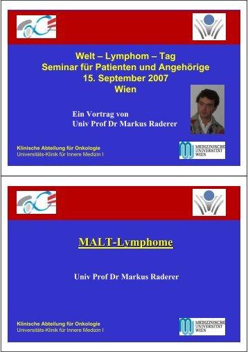 MALT-Lymphome