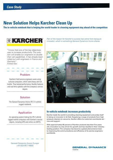 In-vehicle notebook increases productivity - General