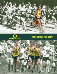 2012 CROSS COUNTRY - GoDucks.com