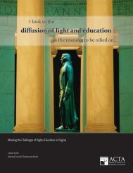 diffusion of light and education - The American Council of Trustees ...