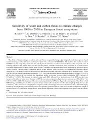Sensitivity of water and carbon fluxes to climate changes from 1960 ...