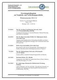 Wintersemester 2011/12 - Fachbereich Geschichts