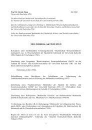 Multimedia-Aktivitäten (Prof. Thum) - Fakultät für Geistes