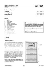Tastsensor 2plus F100 - Gira
