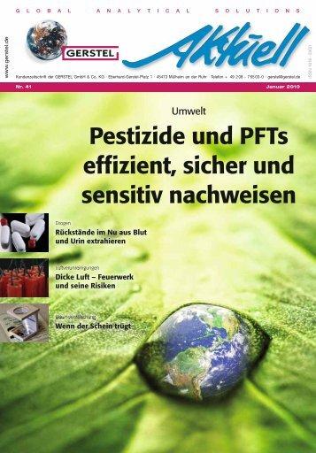 GERSTEL Aktuell Nr. 41 (pdf; 3,75 MB) - Gerstel GmbH & Co.KG