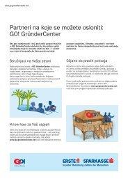 Partneri na koje se možete osloniti: GO! GründerCenter