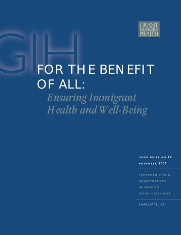 FOR THE BENEFIT OF ALL: - Migration Information Source