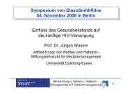 Vortrag Prof. Dr. Jürgen Wasem (Universität ... - GlaxoSmithKline