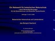 Botanischer Artenschutz auf Länderebene: das Beispiel Saarland