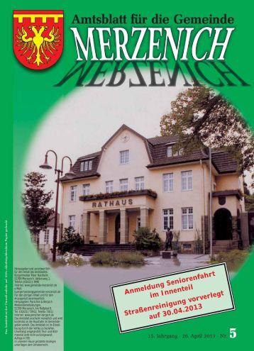 Nr. 05/2013, erschienen am 26.04.2013 - Gemeinde Merzenich