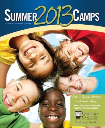 Summer Camp Brochure - Georgia College & State University